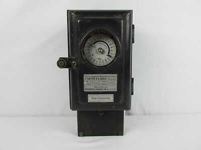 Antique 1920s Sauter & Basle Time Switch Clock Electrical Apparatus Switzerland