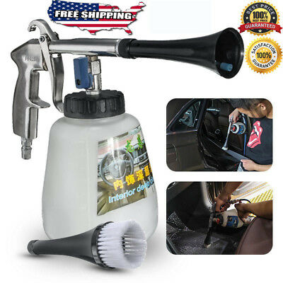 White Tornador Car Surface Cleaning Washing Air Pulse Spray Tool With Brush 2018