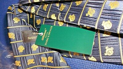 BNWT MR MEN VINTAGE 1990'S TIE m&s st michael new with original tags navy blue