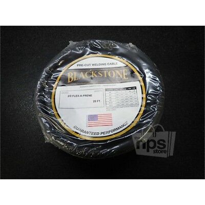 Blackstone  Pre-Cut Welding Cable 2/0 Flex-A-Prene 25 ft.