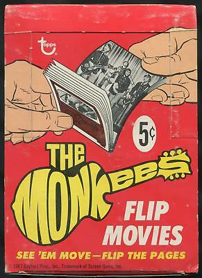 1967 Topps The Monkees Flip Movies 5-Cent Display Box