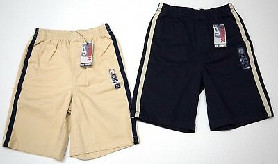 NWT LOT OF 2 Shorts Boys Gymboree Sz 14 XL Tan & Navy Blue Elastic Cotton Twill