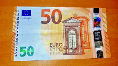 EU 50 Euro Bank Note Paper Money Bill Circulated Good 2017 European Union Money