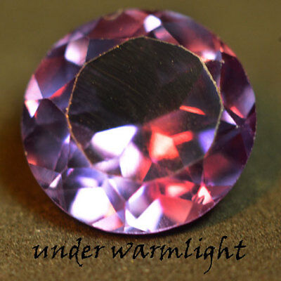 4.05ct.AWESOME RUSSIAN COLOR CHANGE ALEXANDRITE ROUND GEMSTONE