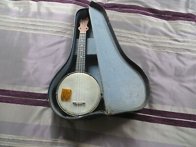 Good looking Banjo ukulele with case, made by Rose brothers -  John Grey model.