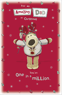 Boofle Amazing Dad Christmas Greeting Card Foiled Xmas Cards