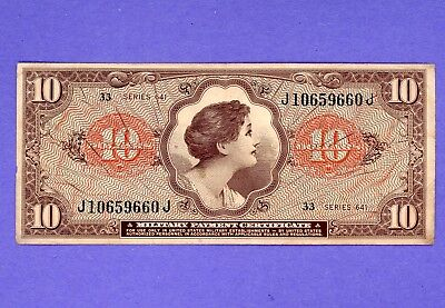 $10 Military Payment Series 641 NICE HIGH GRADE CRISP NOTE
