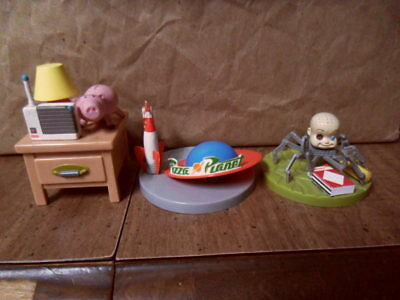 Toy Story Tomy Japan Diorama Figure Lot 2004 RARE Babyface Hamm Pizza Planet