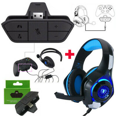 2019 NEW Stereo Headset Headphone Audio Game Adapter For Xbox One Controller US