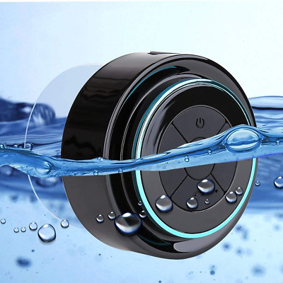 Waterproof Wireless Bluetooth Handsfree Mic Suction Car/ BATHROOM Shower Speaker