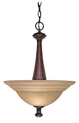 Old Bronze Dimmable LED Pendant/Chandelier With Amber Water Glass