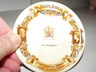 Silver Jubilee King George V and Queen Mary Souvenir Dish Coaster