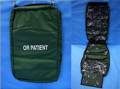 "Iron Duck OR Patient Medical Hanging Bag 9 Pockets U.S. Made 68x18.5"" EMT New"