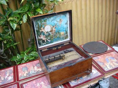 Original Antique Polyphon music box  come with one Disc only