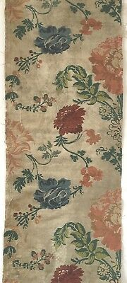 Very Beautiful Rare 18th Century Silk Brocade Fabric   (2455 )