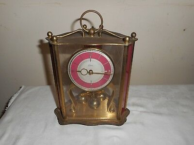 Vintage, Kern Anniversary Clock in Unusual Triangular Case, Great Condition.