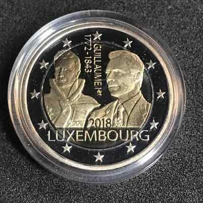 Luxemburg 2 Euro PP/Proof 2018 *175.Todestag Guillaume I* - 1,000 Stück aus KMS!