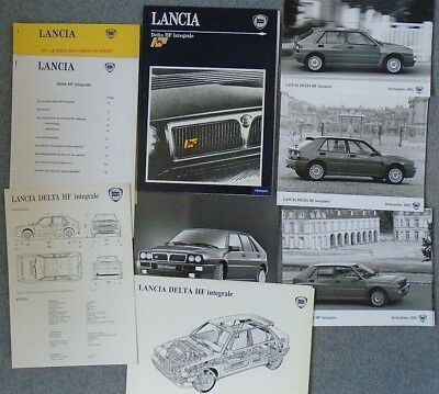 Lancia Delta HF Integrale 1991 Press Pack Kit Photograph x 6  Francais French