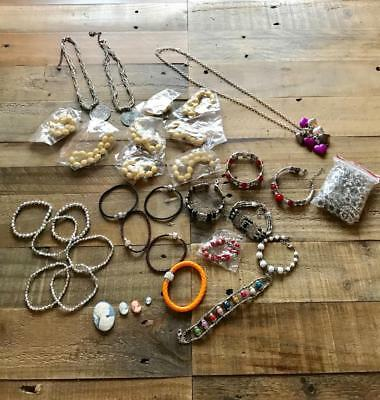 Joblot Of Jewellery Necklaces, Bracelets, Charms. Wholesale Jewelry Items Gifts