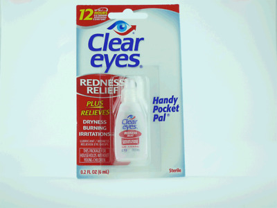 4 PACK Clear Eyes Redness Relief Handy Pocket Pal