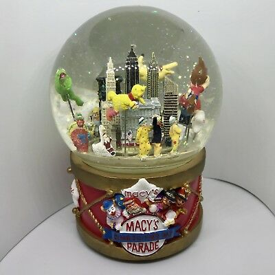Snow Globe Macys Thanksgiving Day 2002 Parade Kermit Pikachu Bobby Neutron