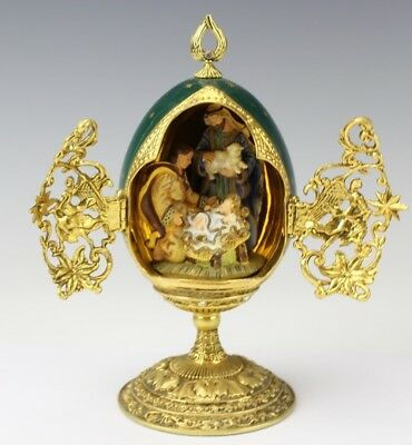 House of FABERGE Limited Edition SHEPHERDS GIFT Collectors Egg Franklin Mint DML