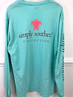 Simply Southern Long Sleeve pocket front T Shirt Women's Lrg