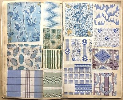 Beautiful 19th Century (1847-1880) French Printed Cotton Swatch Book  (830)