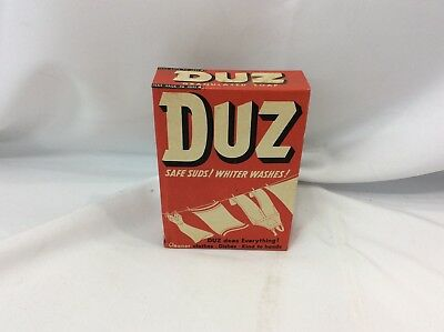Vintage Un-Used 1950's Duz Laundry Soap Powder Sample Advertising Box