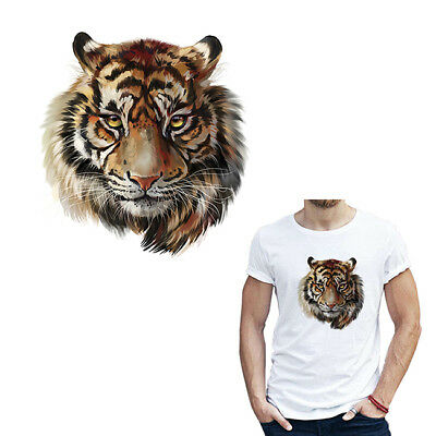 Tiger Animal Pattern Decorative Iron-on Patch Stickers For Clothing Bag Hat CB
