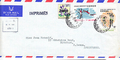 Belgian Congo (Kinshasa) postage stamps - 1960s Air Mail Cover
