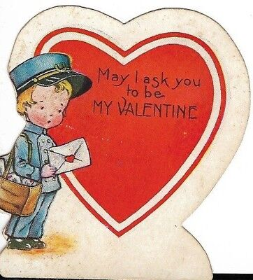 Children's Whitney-Made Valentine Card with 1922 NTA Christmas Seal