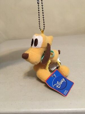 "Disney Sega Mini 4"" Plush Keychain -- Pluto -- Brand New w/ Tag"