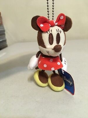 "Disney Sega Mini 5"" Plush Keychain Hang -- MINNIE MOUSE -- Brand New w/ Tag"