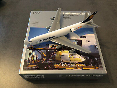 Herpa Wings 1:500 Lufthansa Cargo Boeing 747-200F America open nose, NG+OVP!!!