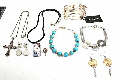 10 Pieces Collection of NECKLACES, EARRINGS & BRACELET Jewellery - C59