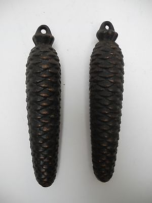 Matched Pair of Vintage Original 752g Cuckoo Clock Pine Cone Weights