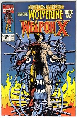 S771. MARVEL COMICS PRESENTS #72 9.0 VF/NM 1991 WOLVERINE ORIGIN , 1st WEAPON X}