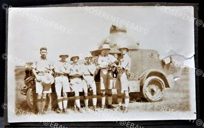 1930s Palestine - Chevrolet India Pattern Armoured Car - Photo 11.5 by 7cm