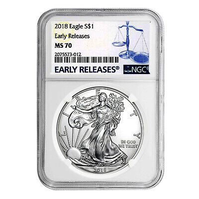 2018 $1 American Silver Eagle MS70 NGC - Early Releases
