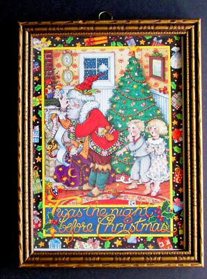 Mary Engelbreit Twas The Night Before Christmas Vintage Me Framed Print