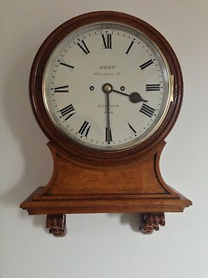 Rare Numbered Antique Striking 9 Inch Dial Fusee Wall Clock By Dent