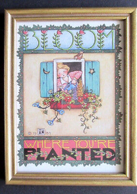 Mary Engelbreit Bloom Where You're Planted 1984 Vintage Me Framed Print