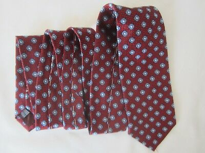 CARROLL & Co. BEVERLY HILLS Tie DESIGNED EXCLUSIVE Geometric CIRCLE DOT Red Blue