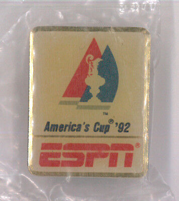 America's Cup '92 media pin - ESPN - TV sports network - yacht race - USA badge