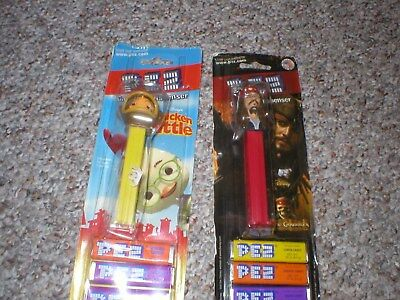 PIRATES OF THE CARIBBEAN Captain Jack Pez Dispenser [Carded] & 1 Other