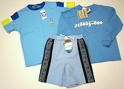 NWT LOT OF 3 SHIRTS Shorts Swim Suit GYMBOREE Scooby-Doo Class Club Boys 5 NEW