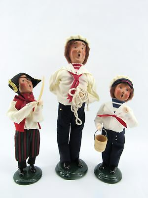Lot of Three Byers' Choice Sailors - The Carolers