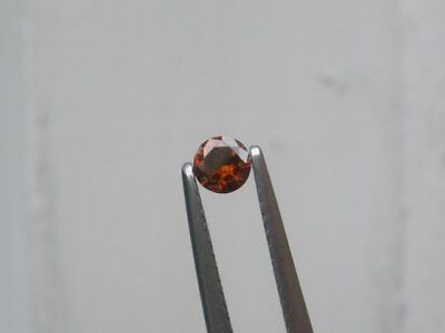Cognac Red Natural Diamond Loose Faceted Round 3.5mm