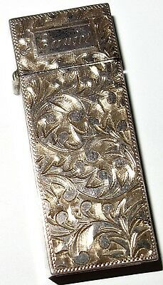 EXCEPTIONAL Antique 950 SILVER Sterling Silver LIGHTER w/ELABORATE ENGRAVING!